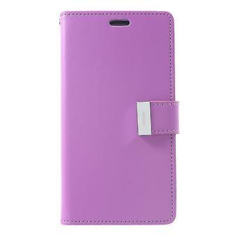 Mercury GOOSPERY Rich Diary to iPhone XR-Purple