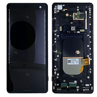 Sony Display LCD Komplett Einheit mit Rahmen für 1315-5026 Xperia XZ3 H8416 H9436 H9493 Schwarz Ersatzteil Neu