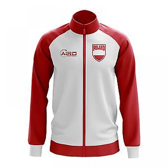 Polen koncept fodbold Track jakke (hvid)