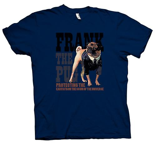 Mens T-shirt - MIB - UFO - Frank The Pug - Alien - Movie