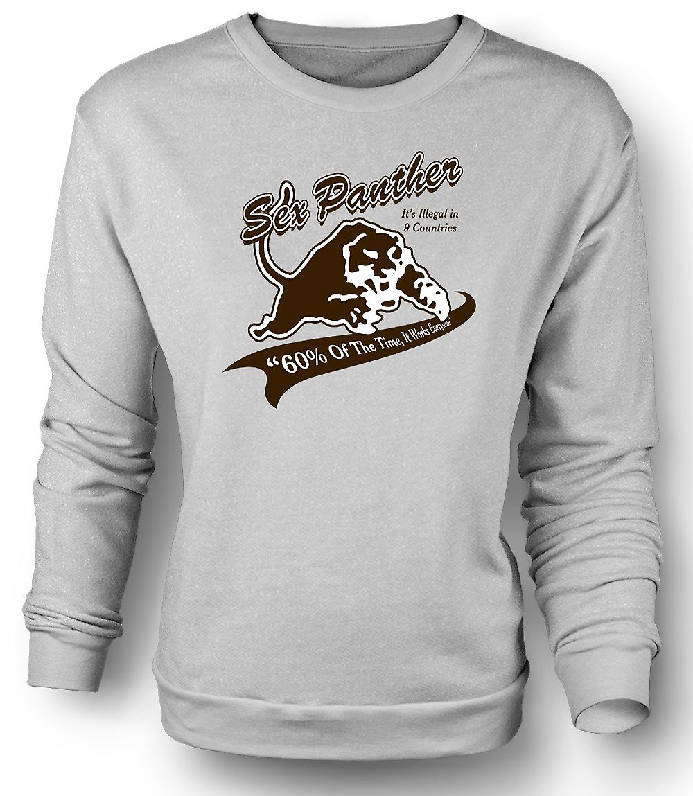 Mens Sweatshirt Anchor Man - Sex Panther - Funny