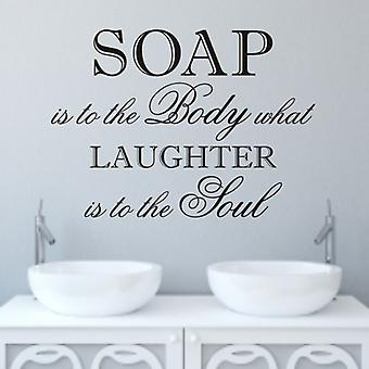 Bathroom wall sticker decal quote - Laughter