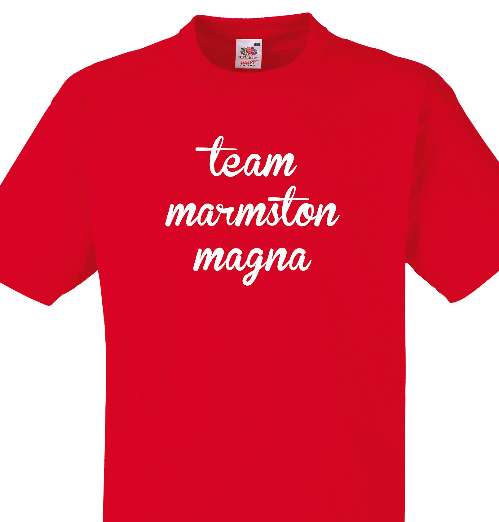 Team Marmston magna Red T shirt