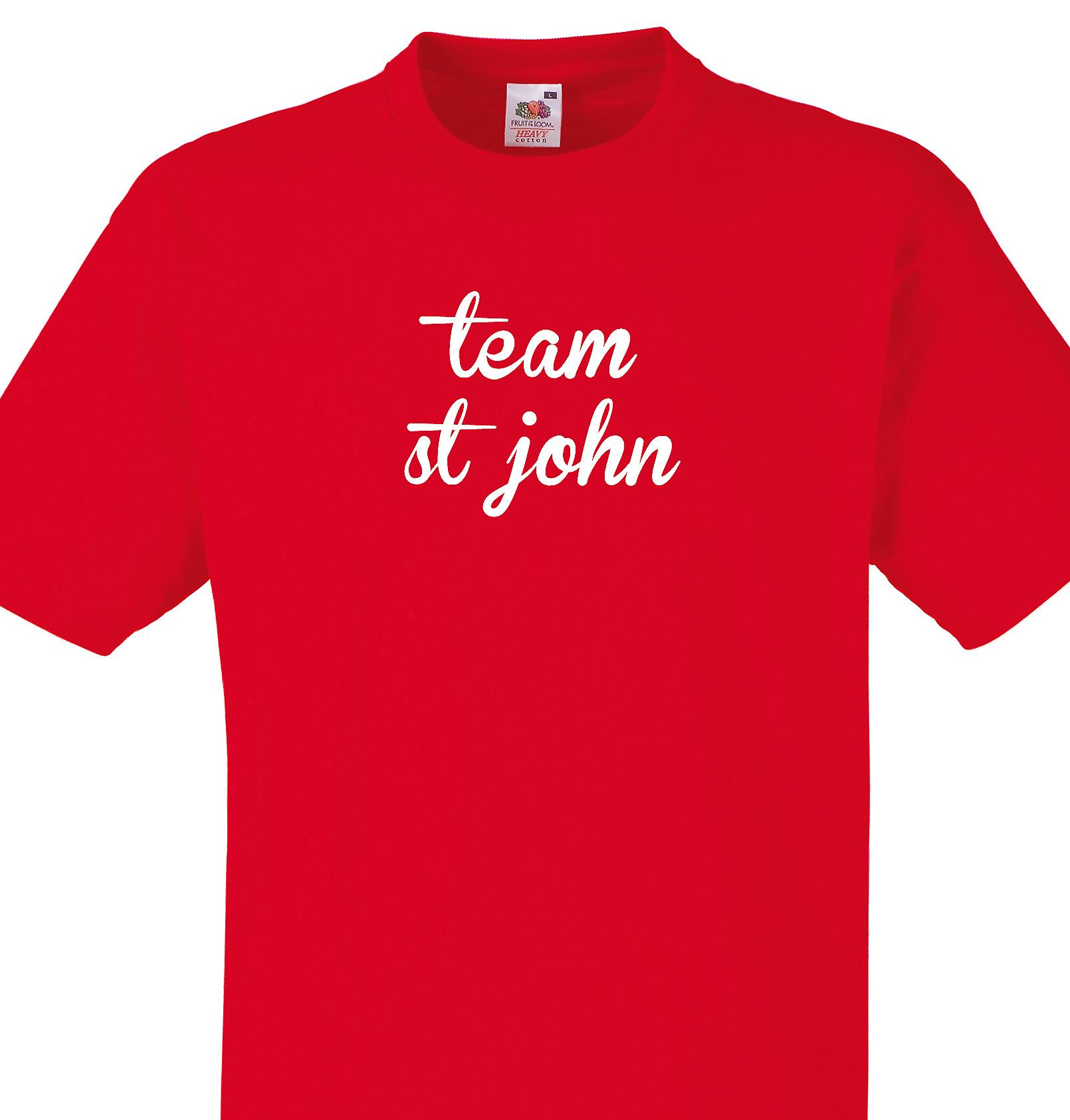 Team St john Red T shirt