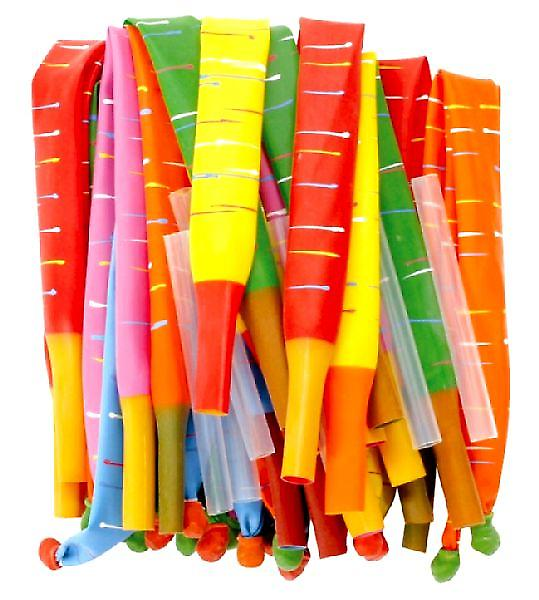 Rocket/Torpedo Balloons Bag 0f 144 (includes blowing tubes)