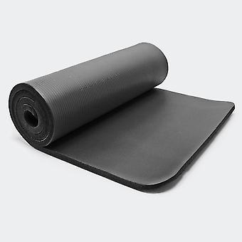 Tapis de yoga sol fitness aérobic pilates gymnastique épais antidérapant noir 180 x 80 x 1 5 cm 0716008