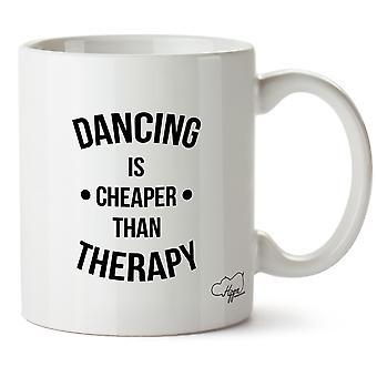 Hippowarehouse dançar é mais barato que terapia imprimida caneca cerâmica Cup 10oz