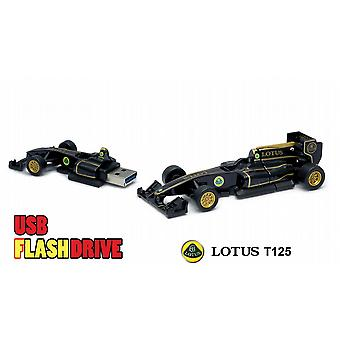 Oficial Lotus T125 F1 Racing coche USB Memory Stick 16Gb - negro