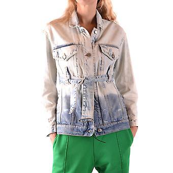Golden Goose G32wp074a4 Light Blue Cotton Outerwear Jacket
