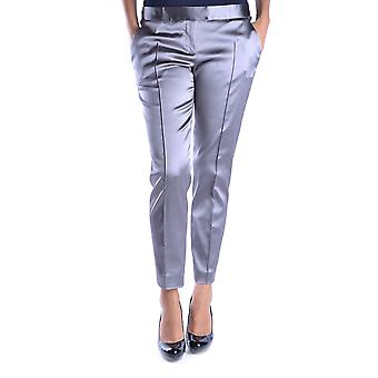 Love Moschino Silver Acetate Pants