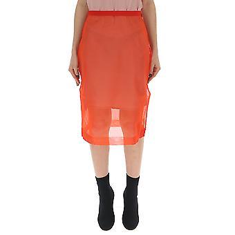 Miu Miu Orange Nylon Skirt