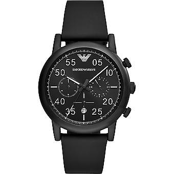 Emporio Armani męski mężczyźni Black Face nadgarstka zegarek AR11133