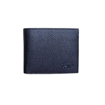 Leather Coin Wallet - Black