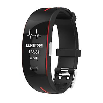 P3 activity bracelet with PPG and ECG red