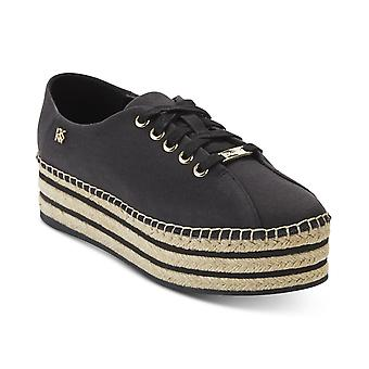 DKNY Womens Adrian Platformes Fabric Low Top Lace Up Fashion Sneakers