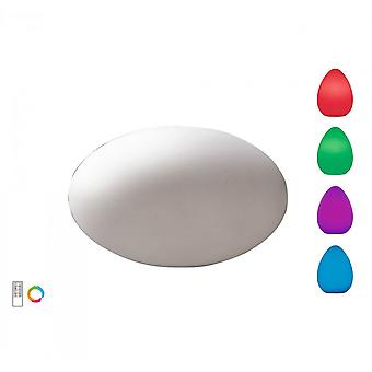 Mantra Huevo Oval Table Lamp Induction LED RGB Outdoor IP65, 120lm, Opal White, 2yrs Warranty