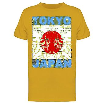 Tokyo Japan Flag Graphic Tee Men's -Image by Shutterstock