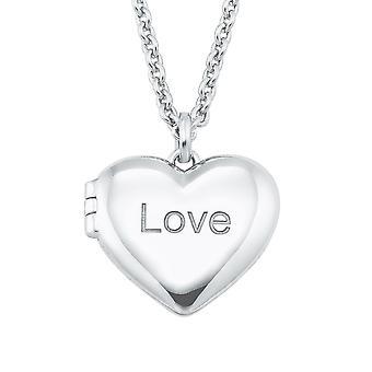 s.Oliver Jewel Damen Kette Halskette Silber Medaillon Herz Love 2026085