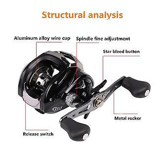 17+1bb 7.1:1 aluminium alloy fishing wheel left hand baitcasting reel