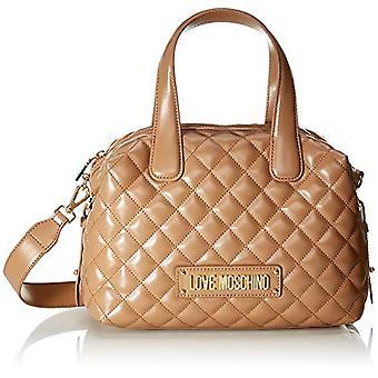 Love Moschino Bag Quilted Nappa Pu Bowling Women Beige (Camel) 19x12x288 cm (W x H x L)