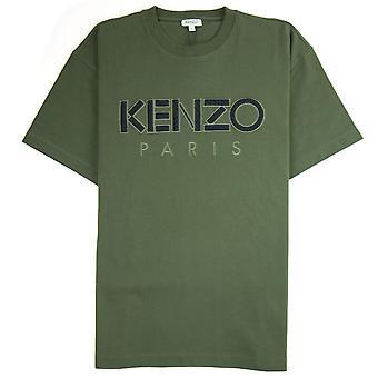 Kenzo Mesh Logo Heavyweight T-shirt Khaki