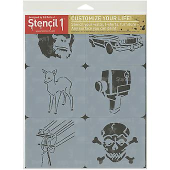 Stencil1 Set 6/Pkg-Graffiti Thema 2 S1-6P-SET2