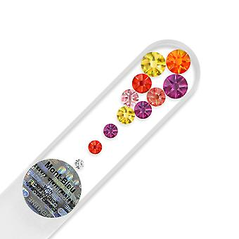 Small glass nail file with Swarovski crystals M-S1-12