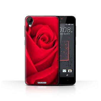STUFF4 Case/Cover for HTC Desire 825/Red Rose/Floral Garden Flowers