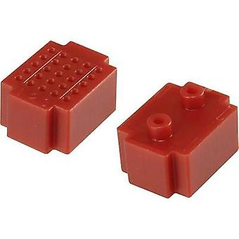 Breadboard Red Total number of pins 25 (L x W) 20 mm x 15 mm Conrad Components 1 pc(s)
