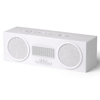 White Lexon Tykho Booster Bluetooth Speaker