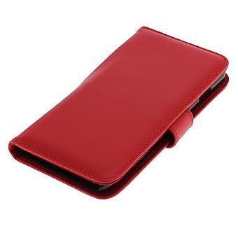 Cas d'OTB (cuir) pour Apple iPhone 6 Bookstyle rouge