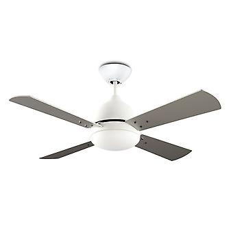 LEDS-C4 ceiling fan Borneo White with lighting 106.6 cm / 42