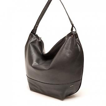 Berba Leather Womens shoulder bag Soft 005-348-00 Black