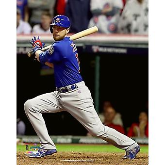 Ben Zobrist RBI Double Spiel 7 der 2016 World Series Photo Print