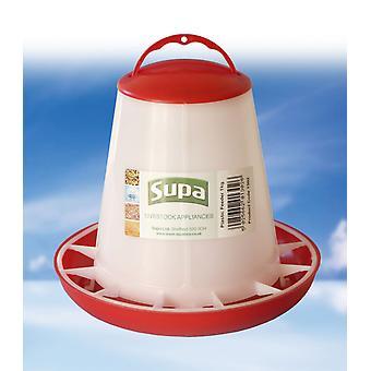 Supa Geflügel Feeder rot & weiß 1 kg