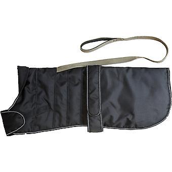 Sele hund Coat sort 55cm (22