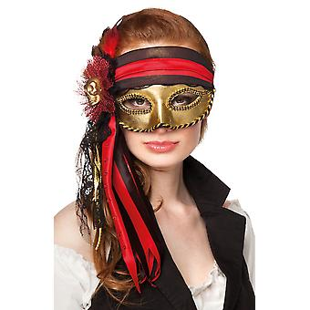 Adults Ladies Venice Pirate Eye Mask Fancy Dress Accessory