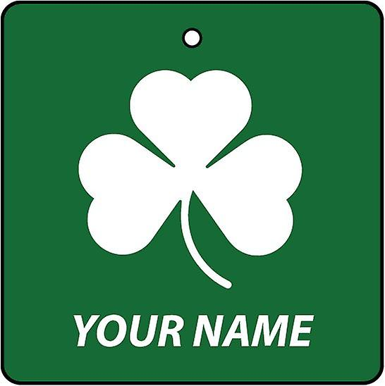 Personalised Irish Shamrock Car Air Freshener