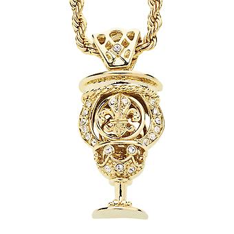 Iced out bling hip hop chain - ORLEANS CUP gold