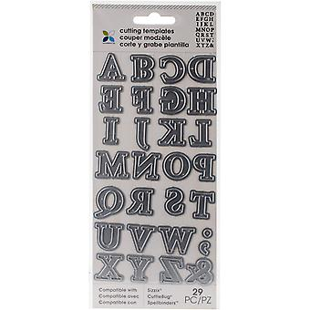 Momenta Die Cutting Templates-Alphabet Upper Case 30021