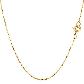 14k Yellow Gold  Rope Chain Necklace, 0.5mm