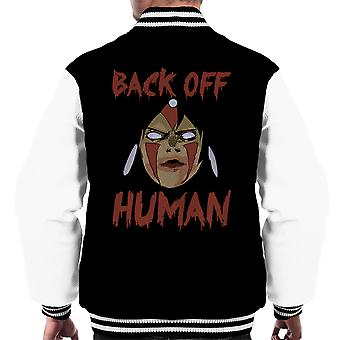 Back Off Human Princess Mononoke Men's Varsity Jacket