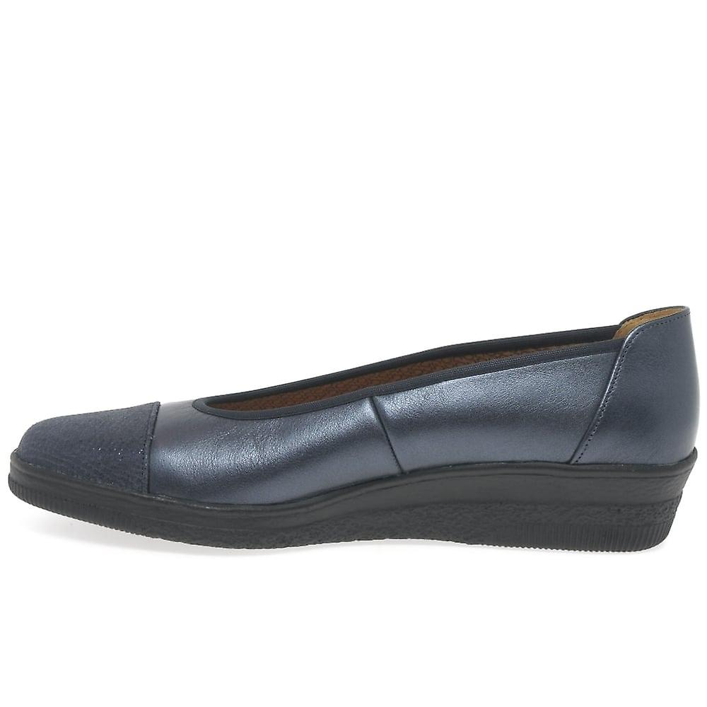 Gabor Petunia Wide Wide Wide Fit Womens Leather Ballerina Pumps 33f84c
