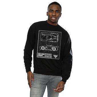 Cars Jackson Storm Blueprint Sweatshirt masculine Disney