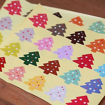 Christmas Tree Stickers Multi Colours x 60 Craft / Card Making / Presents