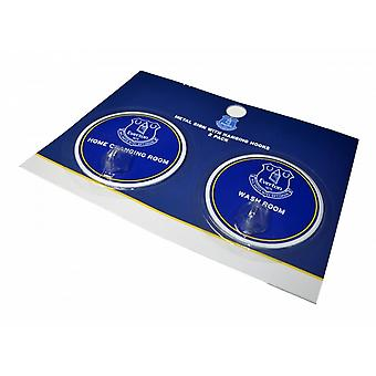 Everton FC Official Football Robe Hook Sign (Pack Of 2)