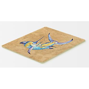 Carolines Treasures  8811CMT Blue Marlin Kitchen or Bath Mat 20x30