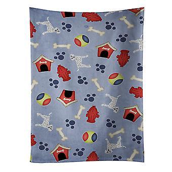 كنوز كارولين BB4078KTWL بيت الكلب جمع منشفة المطبخ الدلماسية