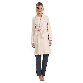 BlackSpade 6125-207 Women's Off White Dressing Gown Loungewear Bath Robe Robe