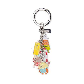 Adventure Time Keyring Keychain Candy People Charms new Official Metal